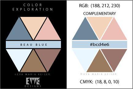 "Eva Maria Keiser Designs: Explore Color: ""Beau Blue"" - Complementary"