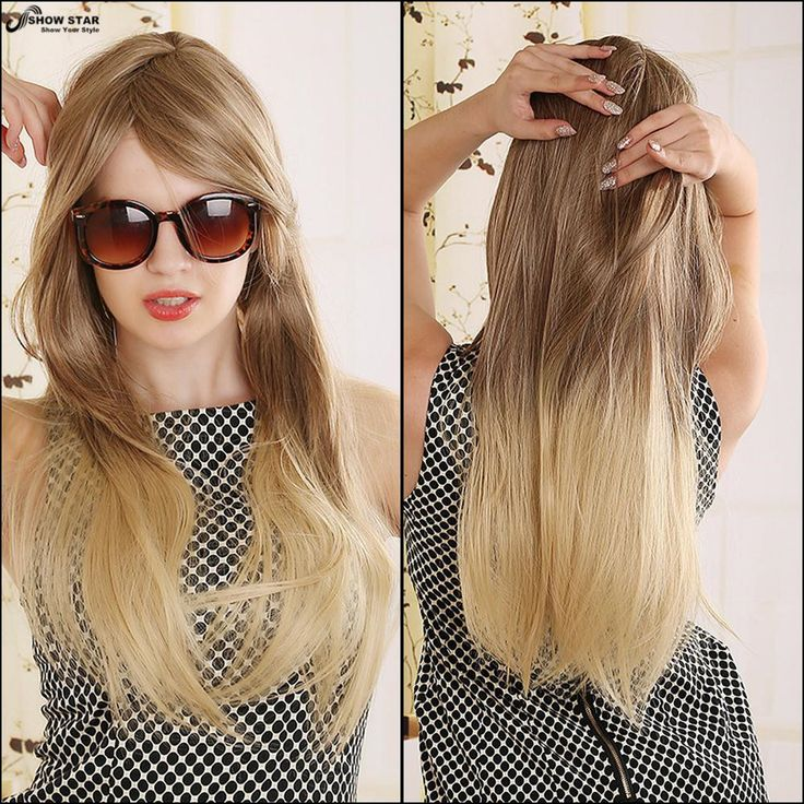 Cheap hair platinum, Buy Quality wigs and hair direct directly from China wig manufacture Suppliers:    Women Brown Blonde Layered Wig Long Straight Synthetic Wigs Highlighted Kanekalon Fiber for White European Jewish Kos