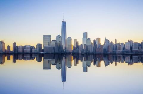 Manhattans skyline, USA
