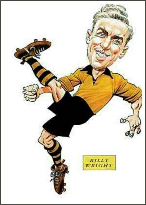 Billy Wright of Wolves in cartoon mode.