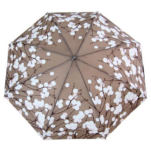 Marimekko Lumimarja Taupe Auto Lux Umbrella
