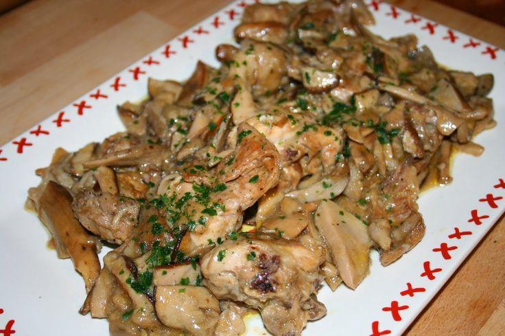 Anna in Casa: ricette e non solo: Coniglio in umido con funghi porcini  Oggi sul blog /Today on my blog www.annaincasa.blogspot.com  #annaincasa #lovescucchiaio #secondidicarne