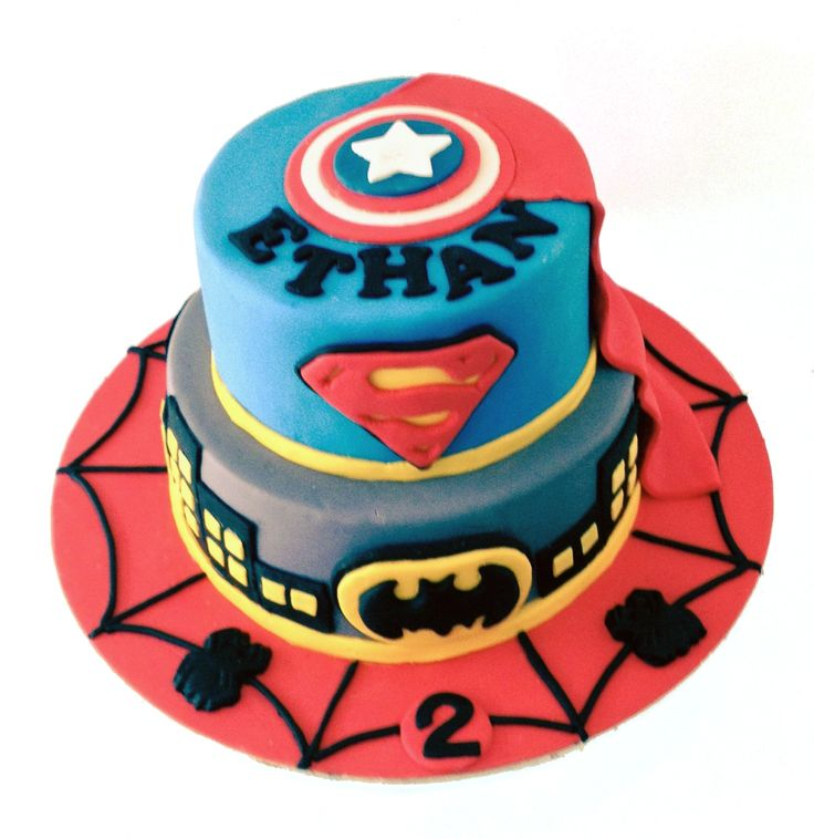 Superhero Cake Like us at www.facebook.com/melianndesigns