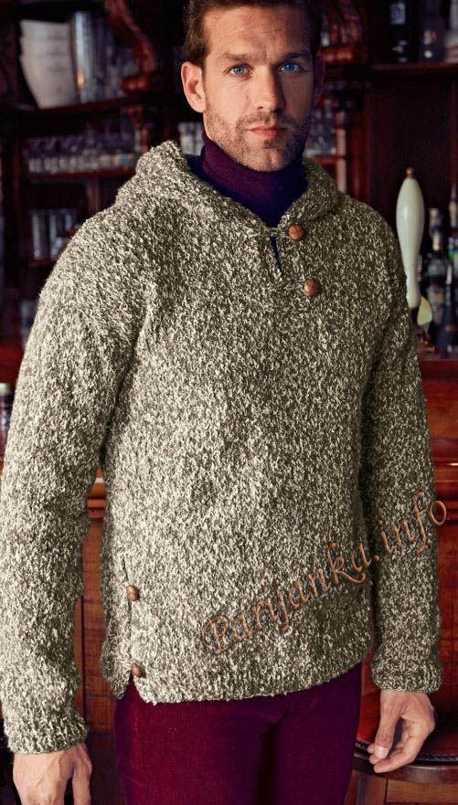 Пуловер с капюшоном (м) 14*177 Bergere de France №4764