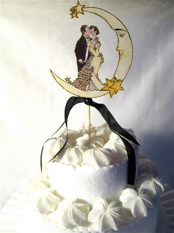 Art deco cake topperwedding cake toppers cake ideas amazing cake