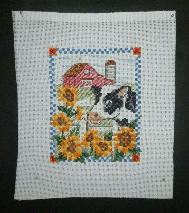 Moo Cow Farm Scene - Cross stitch Anything Goes Market Night Tuesday 22nd April, 2014