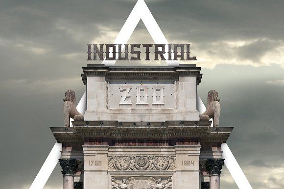 Industrial Zoo - font pack by davidiscreative on @creativemarket