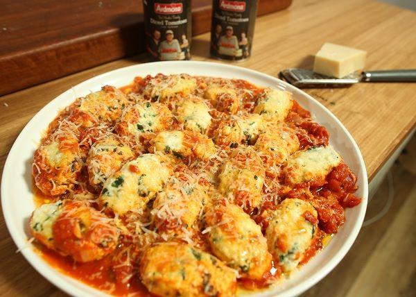 Spinach _ Ricotta Gnudi recipe - The Cooks Pantry