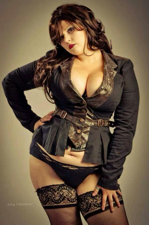 Busty goth chick