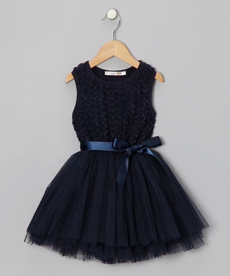Navy Rosette Tutu Dress - Infant, Toddler & Girls | Daily deals for moms, babies and kids