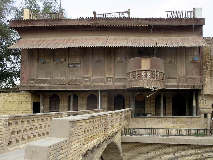 Ottoman Viceroy House, a Shanashel (traditional 19th century house) in Basra, Iraq, is in urgent need of repair.