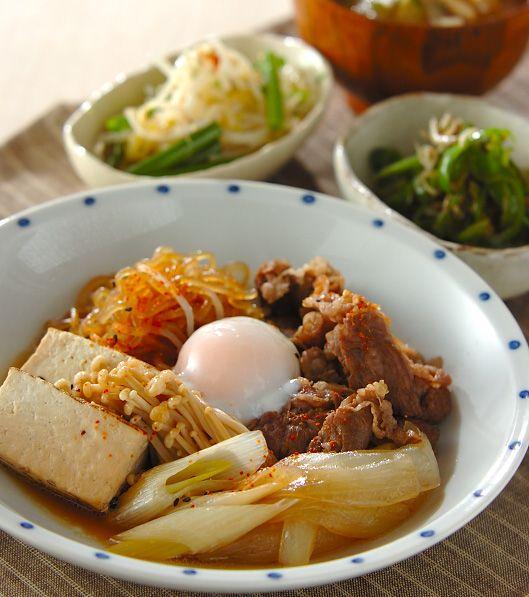 「温泉卵のせ肉豆腐」の献立・レシピ - 【E・レシピ】料理のプロが作る簡単レシピ/2013.05.19公開の献立です。