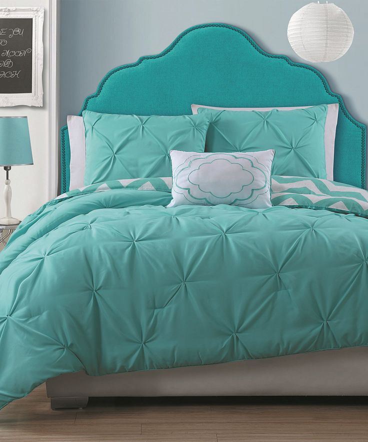 Another great find on #zulily! Turquoise Stella Comforter Set by Geneva Home Fashions #zulilyfinds