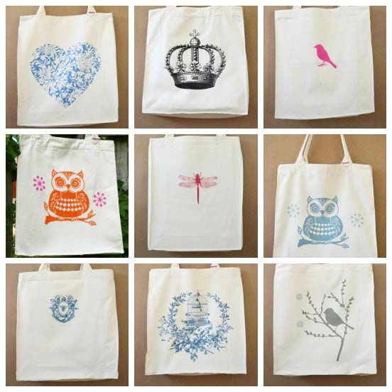 Tote bags from the Big Heart Company