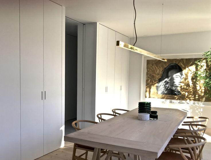 am designs trestle table #wegner #anour #carlhansen artwork #slater bradley