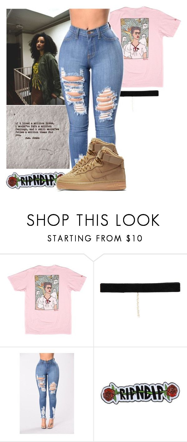 """shinning ~ beyoncé & jay-z ft. dj khalid"" by luh-foreign ❤ liked on Polyvore featuring RIPNDIP, Bartoli and NIKE"
