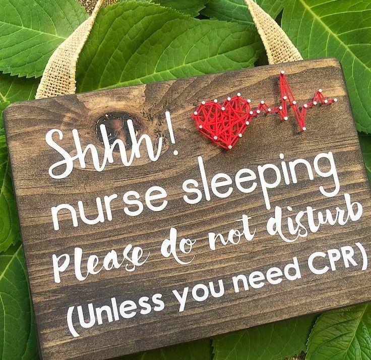 Shhh! Nurse Sleeping String Art Sign - Preorder!