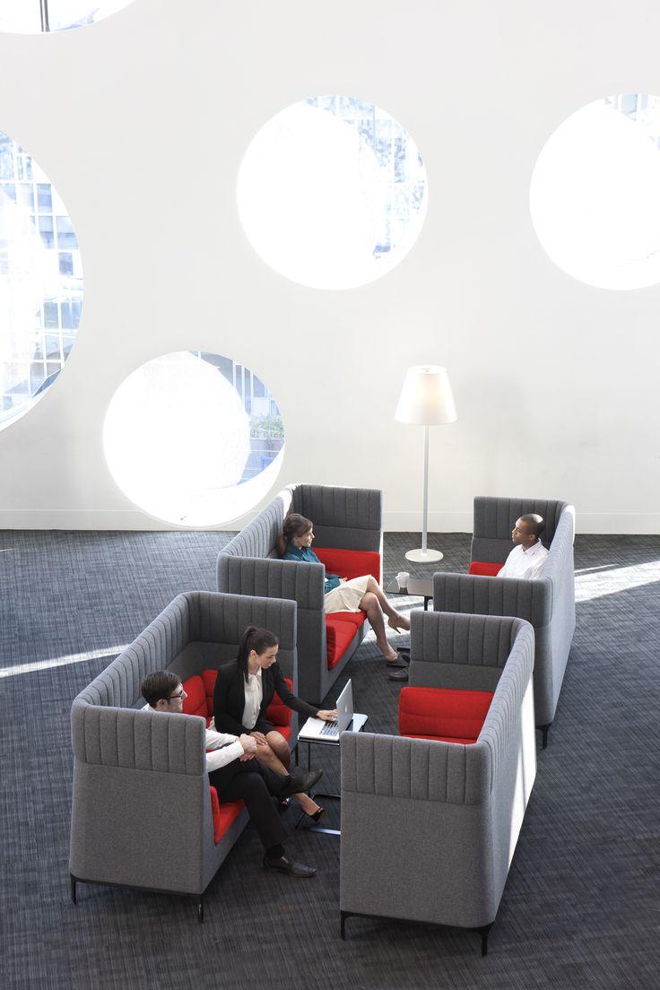 Haven high back sofa. Modular furniture designed by Mark Gabbertas for Allermuir.