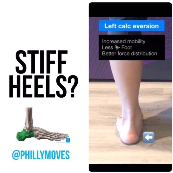 GAIT MATTERS: DO YOU HAVE STIFF HEELS ?  . Whats up everyone!  If you havent checked out my previous post please do so #myoGAITseries Recap: 1Heel Strike is GOOD! It is used to initiate the gait cycle and allows a whole process of chain reactions to begin (i.e. letting the talus drop down supple-ing the midfoot to adapt to a variety of surfaces letting the shin come forward) . 2Before heel strike our calcaneus or heel bone should be INVERTED and then go into EVERSION when the foot hits the…