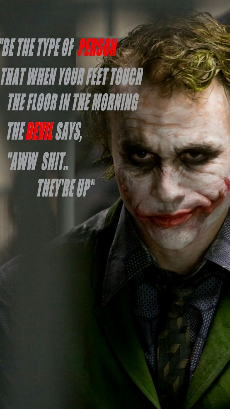 Hahahahaa This can't be one of joker's thought but its cool