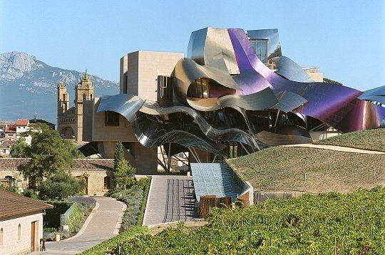 Hotel Marques de Riscal, Spain. Designed by Frank Gehry