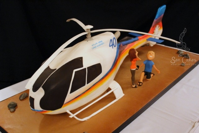 Helicopter Cake -- step by step