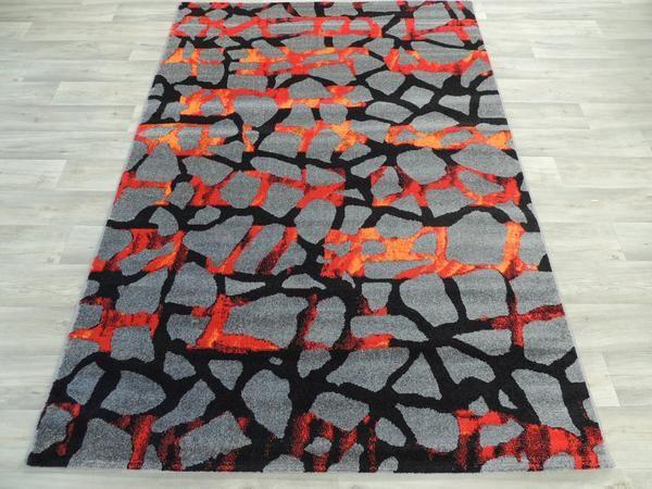 Earthy Lava Rocks Modern Turkish Rug Size: 160 x 230cm