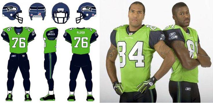 2009 Seattle Seahawks Green Alternate Uniforms