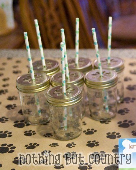 Mason Jar Glasses -  Jars- Publix/Target/Walmart  Lids- Candle Science  Straws – Pokadot Market