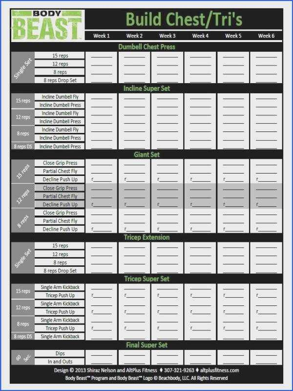 Free Improved Body Beast Workout Sheets Zillafitness Body Beast Worksheets Body Beast Workout Sheets Body Beast Workout