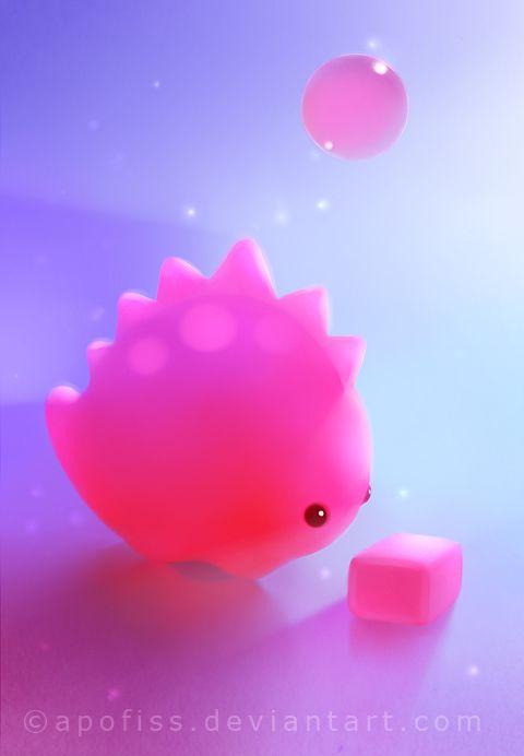 bubble gum dino by Apofiss.deviantart.com on @deviantART