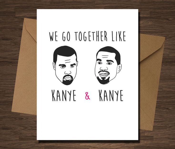 Kanye West Funny Valentine's Day Card on Etsy