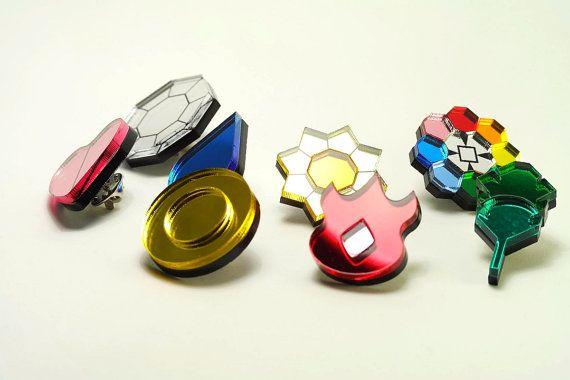 Pokemon Gym Badges - Kanto Region