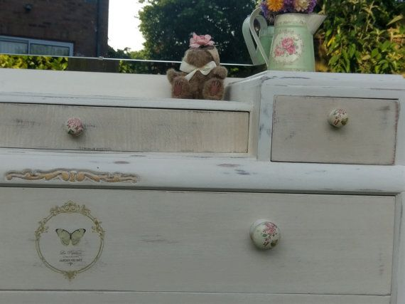 Vintage dressing table handpainted and by PaintedChicBoutique