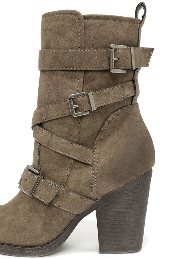 Buckled Mid-Calf Boots //