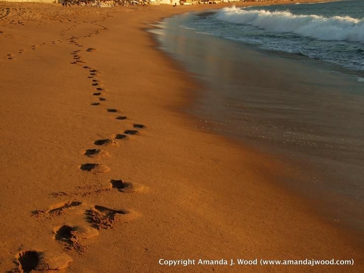 Footprints left behind at Barra de Navidad.
