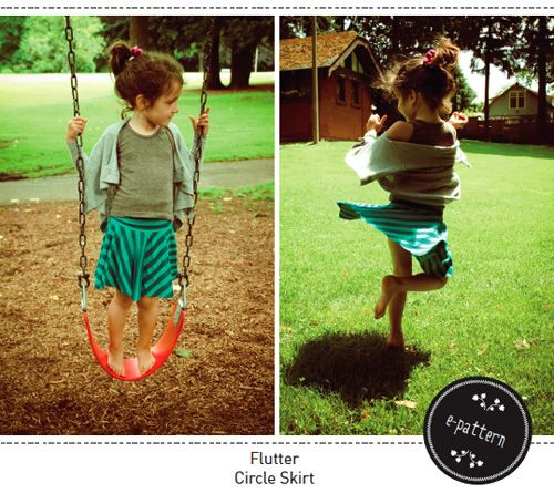 Free Flutter Circle Skirt ePattern from Figgy's: Circles, Flutter Circle, Free Pattern, Circle Skirts, Sewing Pattern, Circle Skirt Tutorial, Circle Skirt Pattern
