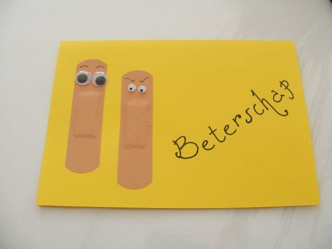 Beterschap - kaart, cards, handmade, zelfmaken, d.i.y., kids craft