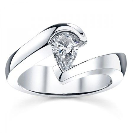 Tension Engagement Ring Setting by Sareen Jewelry _I would like it more round_