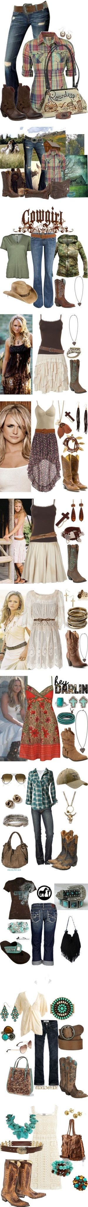 She does wear cute clothes! Country girl stuff by Felicia Berry- I wouldn't wear some of these but most of these are cute!