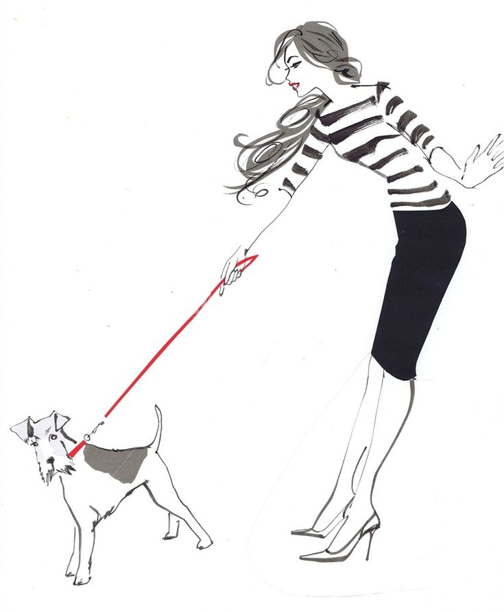 Jacquline Bissett illustrations. Love this fun image! #illustration: Dogs Drawings, Des Art, Dogs Fashion, Jacqueline Bissett, Walks The Dogs, Bissett Illustrations, Dogs Illustrations, Fashion Illustrations, Fashion Sketch