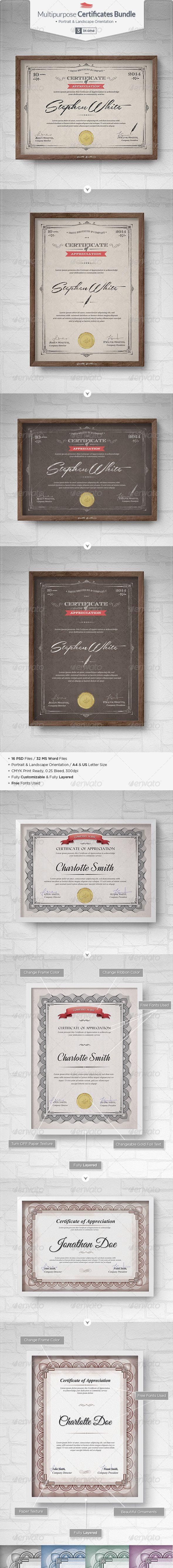 Multipurpose Certificates Bundle - Certificates Stationery. DOWNLOAD : http://graphicriver.net/item/multipurpose-certificates-bundle/7230729?ref=sinzo