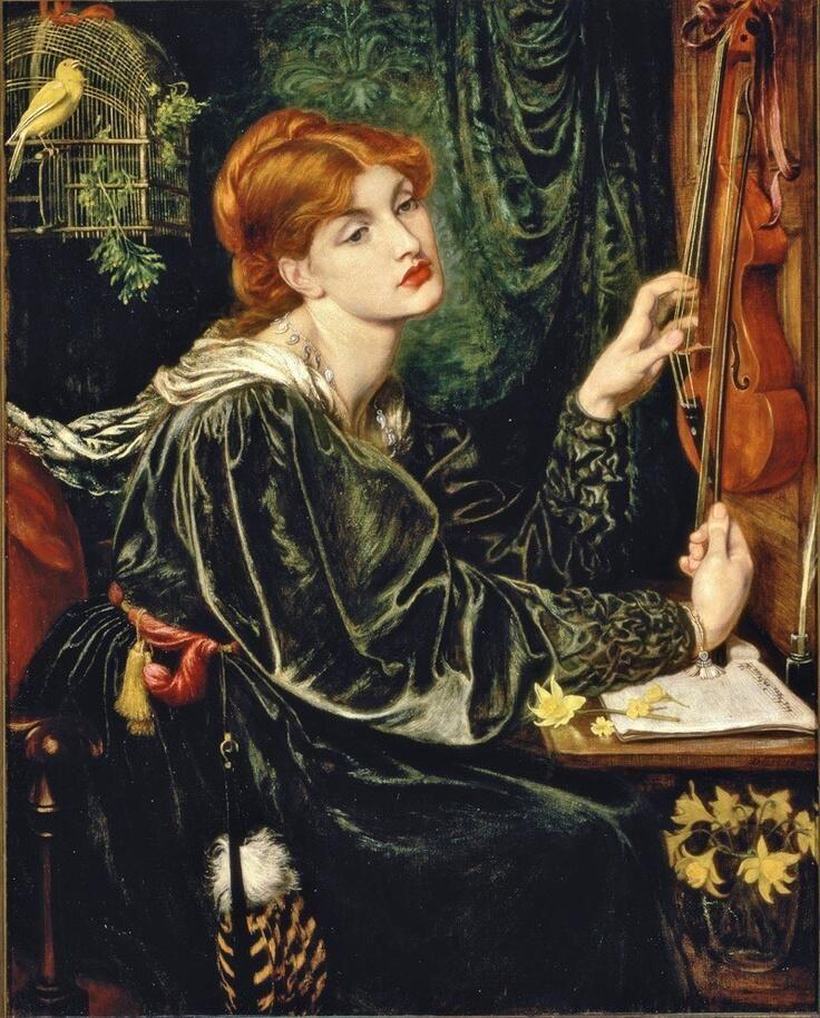 c. 1872 'Veronica Veronese'... by; Dante Gabriel Rossetti (1828-1882)...