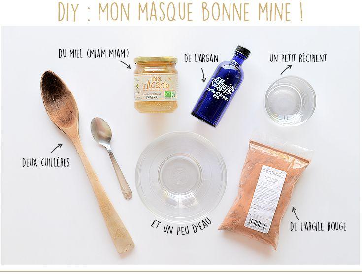 Un masque naturel et fait maison pour un joli teint (mini DIY)   Masque maison, Belle peau, Masque