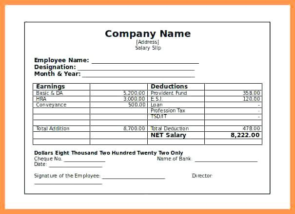 Image Result For Payslip Template Resume Template Free Payroll