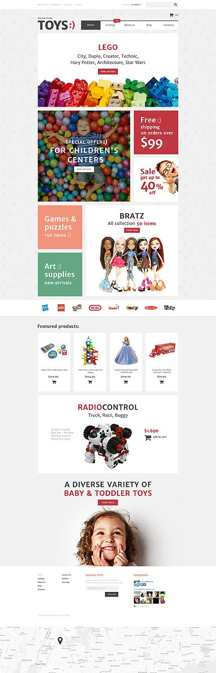 VirtueMart template for kids and toys