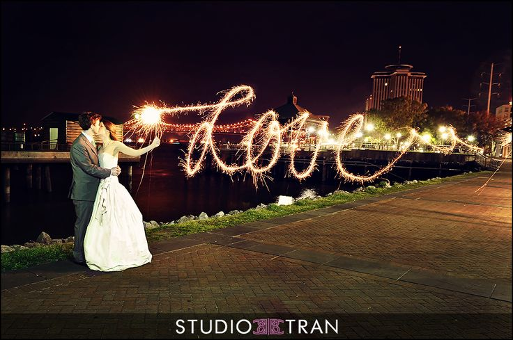 Creative wedding sparklers Photos