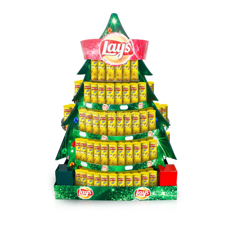 Point of Sale,Point of Purchase Design,POP,POSM,POS,POP,Christmas tree | Potato chips,Design,Pallet displays