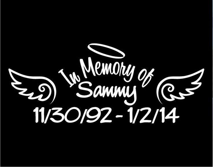 In memory of sammy decal window sticker