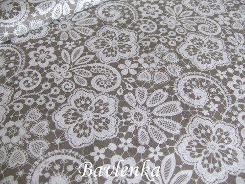 Bavlna Krajkový vzor
